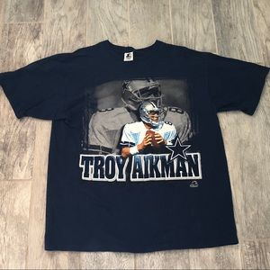 Dallas Cowboys Troy Aikman t shirt starter Large L